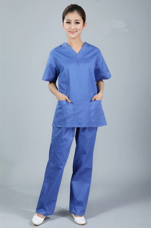 New plus size Women's V Neck Summer Nurse Uniform Hospital Medical Scrub