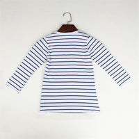 TANGUOANT Striped  Girl Dresses