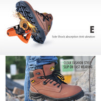 safetoe Work Boots Extra Wide Work Steel Toe