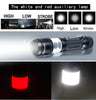 POPPAS Micro USB 1300LM XML-T6 Chips Red and White RAY LED Flashlight