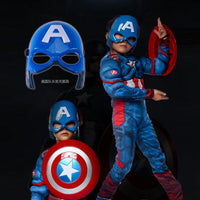 Superhero Kids Muscle Captain America Costume