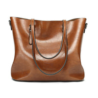 Women Oil Leather Tote Handbags