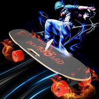 Electric Skateboard with Bluetooth Speaker  Light Remote Controller
