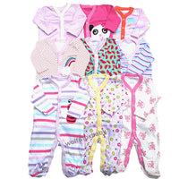 Retail 3pcs/pack 0-12months long-Sleeved Baby Clothes