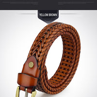 DINISITON Weaving Belt Designer Genuine Leather Belts for Women
