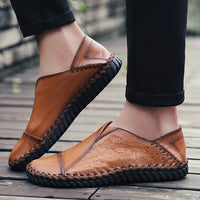Men Breathable Cap Toe Hand Stitching Casual Oxfords Shoes