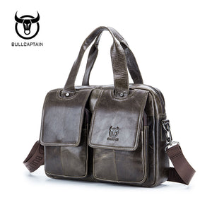 BULL CAPTAIN 2018 Genuine Leather Briefcase
