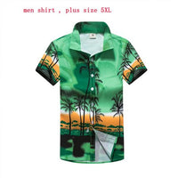 Men & Women Hawaiian Shirt Short Sleeve
