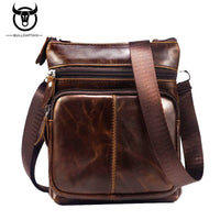 BULL CAPTAIN MEN'S  GENUINE LEATHER MINI SHOULDER BAG