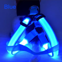 Nylon Pet Dog Harness Cat Safety LED Flashing Light Harness