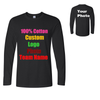 Custom Logo Men T Shirts Long Sleeve
