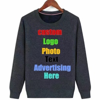 Custom Logo Design Photo Printed Women Men Sweatshirt Pullover