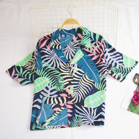 Women Vintage Harajuku Blouse Hawaiian Female Shirts