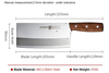 SHUOOGE 8 inch Stainless Steel Cleaver Butcher Knife