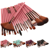 New 18 pcs 4 Colors Makeup Brush Set tools Make-up Toiletry Kit Wool Make Up Brush Set