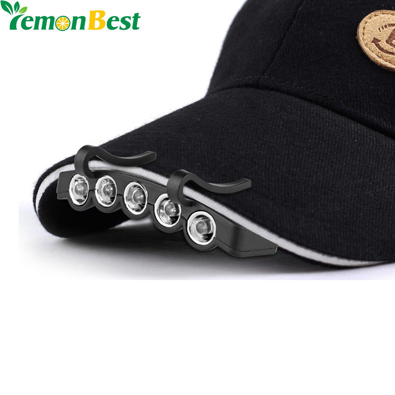 LemonBest Clip-On 5 LED Headlamp