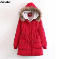 Fanala Winter Woman Coat Fur Hooded