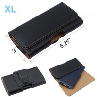 "Leather Belt Clip Cover Case Pouch for Cell Phone Inside 6.25 x 3.0 x 0.70 "" XL"
