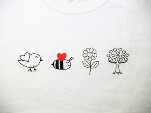 Birds Bees Flowers Trees Women's T Shirt