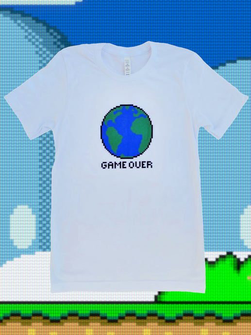 Game Over 8bit Gamer Tshirt