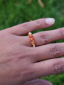 Honey Drop Gold Wire Wrapped Ring | Daizeez