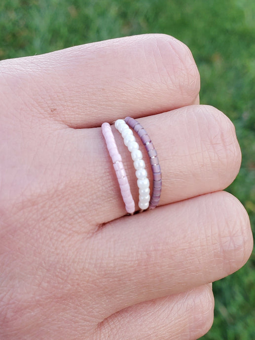 Lilac Stacker Silver Ring for Women and Teen Girls | Daizeez