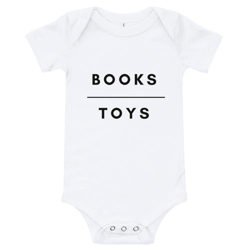 Books Over Toys Onesie
