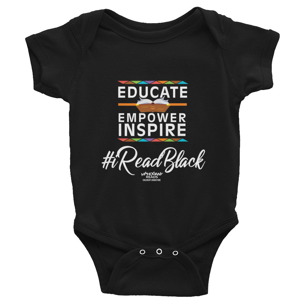 Educate, Empower, & Inspire Black Onesie