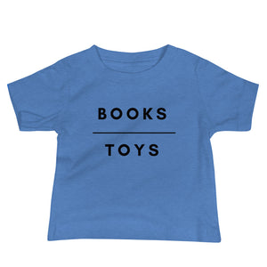 Books Over Toys Baby Tee