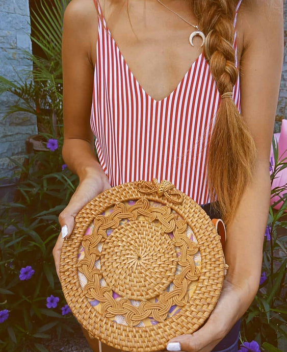 Check Out Some Rattan Bag Outfits