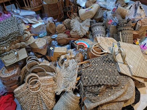 Just about to ship rattan bags
