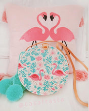 Flamingo rattan bag perfect style for boho jeans or summer style