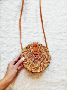 Real Bali Bag Flores Mini Straw Round Bag