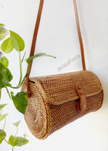 This round rattan bag Australia is as beautiful as the photos add this straw purse as the statement to many of your outfits! handwoven in Bali with love