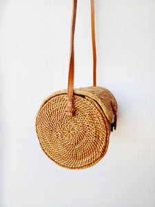 Handwoven rattan wicker purse, handmade rattan bag, straw bag, Bali Bag