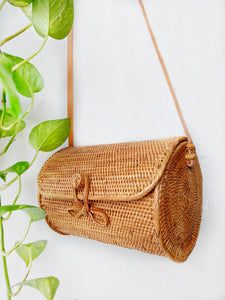 rattan bag with leather strap | round rattan bag Australia | how much is the rattan bag in Bali