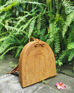 Large Rainbow Rattan Backpack