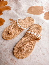 Amber Sea Shell Handmade Slippers