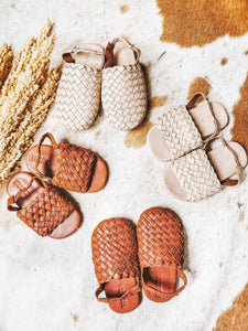 Handwoven Kids Leather Shoes