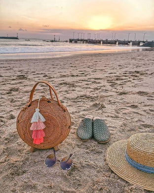 Paris round rattan bag for vacations pinterest style.