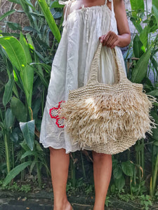 Please note each raffia bag is individually handwoven and there might be slight variations in exact size, shape, color, pattern and inside lining may vary from bag to bag.