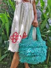 These are raffia purse are great for groceries or as a beach bag, wide boxed bottom and handles so you can carry it like a handbag.