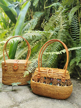 Real Rattan Designer Handbag With Handle