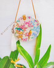 Original Rattan Bag Decoupage Roundie Handmade In Bali