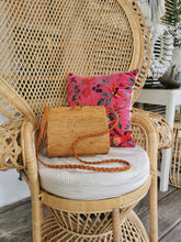 Authentic Rattan Large Clam Cross Body