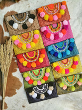 PomPom Beach Bag Clutch Style