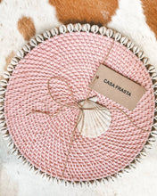 Rattan Placemats With Cowrie shells Set of 4