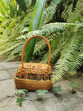 Round Rattan Bag With Handles Real Bali Street level handbags wholesale in straw bag handwoven shoulder summer boho vintage bags for hippies spring pink bags
