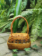rattan purses Bali handbag round rattan and leather wicker set designer straw stuart fl rattan coin purse wholesale