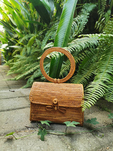 Round Rattan Handbags And Purses Wholesale Bali